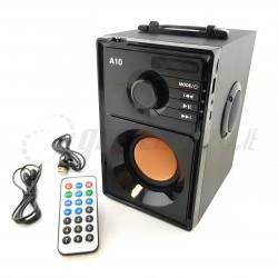 A10 Bluetooth nešiojama kolonėlė, stereo 2.1, 10W RMS, MP3, FM, AUX - MAX