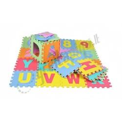 Edukacinė raidžių ir skaičių puzlė - kilimas  - MAX